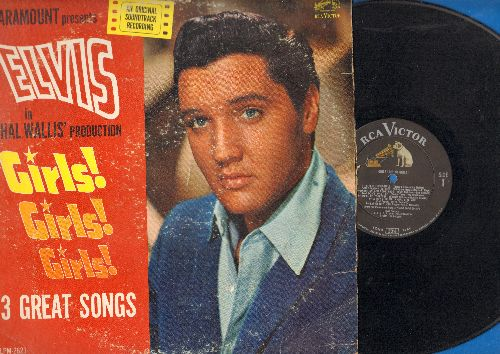 Presley, Elvis - Girs! Girls! Girls! - 13 Great Songs from the Paramount Movie: Return To Sender, The Walls Have Ears, Because Of Love (vinyl MONO LP record) - VG7/VG7 - LP Records