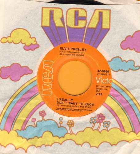 Presley, Elvis - I Really Don't Want To Know/There Goes My Everything  - EX8/ - 45 rpm Records