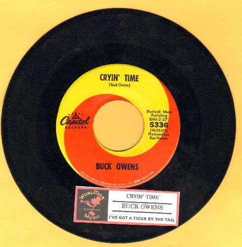 Owens, Buck - Cryin' Time/I've Got A Tiger By The Tail (with juke box label) - NM9/ - 45 rpm Records