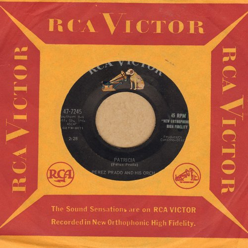 Prado, Perez & His Orchestra - Patricia/Why Wait (with RCA company sleeve) - EX8/ - 45 rpm Records