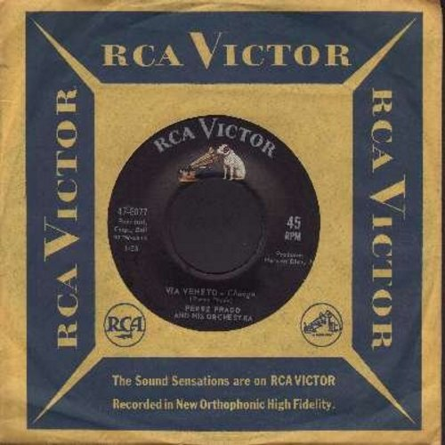 Prado, Perez & His Orchestra - Via Veneto/La Ragazza (The Girl) (with vintage RCA company sleeve) - NM9/ - 45 rpm Records