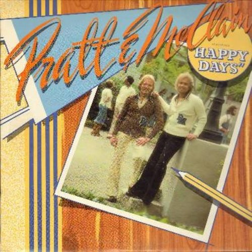 Pratt & McClain - Happy Days: Devil With A Blue Dress, Raised On Rock, Summer In The City, Midnight Ride (Vinyl STEREO LP record) - NM9/NM9 - LP Records