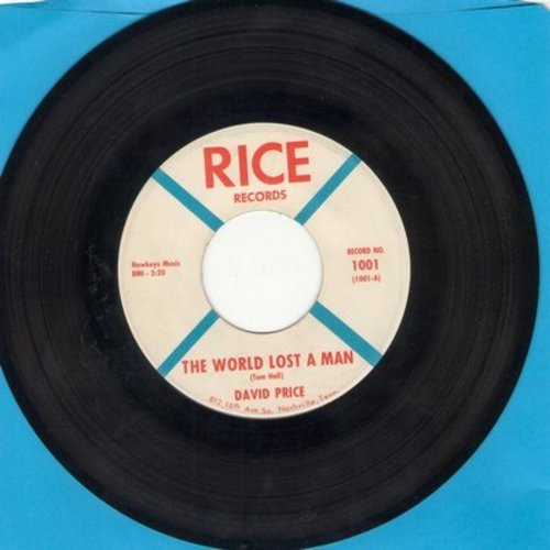 Price, David - The World Lost A Man (in memory of President JFK assassination)/I Need A Friend - EX8/ - 45 rpm Records
