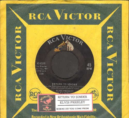 Presley, Elvis - Return To Sender/Where Do You Come From (with company sleeve and juke box label) - VG7/ - 45 rpm Records