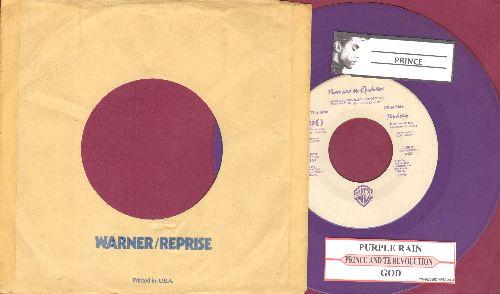 Prince - Purple Rain/GOD (purple vinyl with juke box label and company sleeve) - EX8/ - 45 rpm Records