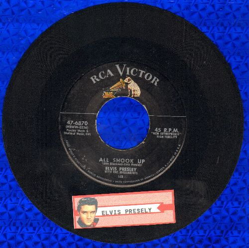 Presley, Elvis - All Shook Up/That's When Your Heartaches Begin (first issue) - VG7/ - 45 rpm Records