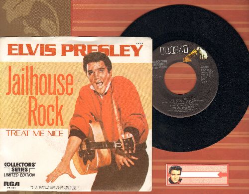 Presley, Elvis - Jailhouse Rock/Treat Me Nice (1977 Collector's Series pressing with picture sleeve) - NM9/NM9 - 45 rpm Records