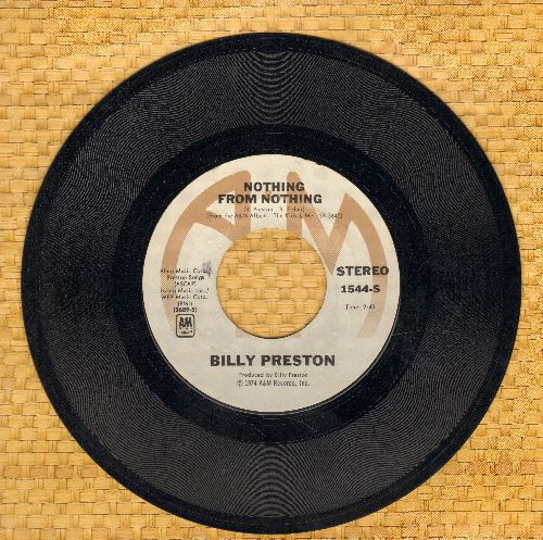 Preston, Billy - Nothing From Nothing/My Soul Is A Witness  - VG7/ - 45 rpm Records