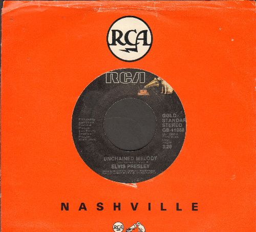 Presley, Elvis - Unchained Melody/Are You Sincere (doble-hit re-issue with RCA company sleeve) - NM9/ - 45 rpm Records