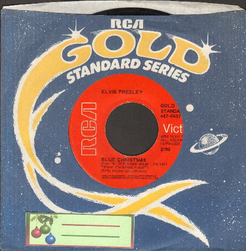 Presley, Elvis - Blue Christmas/Santa Claus Is Back In Town (with RCA company sleeve) - EX8/ - 45 rpm Records