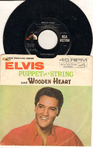 Presley, Elvis - Wooden Heart/Puppet On A String (with picture sleeve) - EX8/VG7 - 45 rpm Records