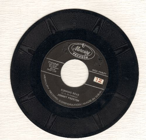 Preston, Johnny - Running Bear (Loves Little White Dove)/My Heart Knows  - VG7/ - 45 rpm Records