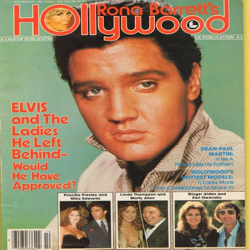 Presley, Elvis - Hollywood Magazine, October 1979 issue with Elvis on cover. Includes stories about John Wayne and new TV Hit