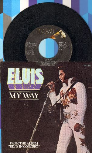 Presley, Elvis - My Way/America (with picture sleeve) - VG7/EX8 - 45 rpm Records
