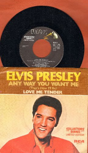 Presley, Elvis - Love Me Tender/Anyway You Want Me (re-issue with picture sleeve) - NM9/EX8 - 45 rpm Records