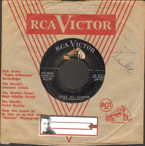 Presley, Elvis - Love Me Tender/Anyway You Want Me (with RCA company sleeve) - VG7/ - 45 rpm Records