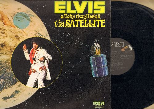 Presley, Elvis - Aloha From Hawaii via Satellite - Black Label later issue of double vinyl LP set - includes 8 songs never before recorded by Elvis - NM9/NM9 - LP Records