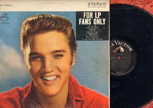 Presley, Elvis - For LP Fans Only: Mystery Train, Shake Rattle And Roll, That's All Right, Playing For Keeps, I Was The One 9vinyl STEREO LP record, 1965 pressing) - EX8/EX8 - LP Records