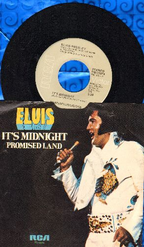 Presley, Elvis - It's Midnight/Promised Land (with picture sleeve) - NM9/EX8 - 45 rpm Records