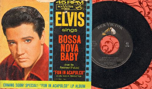 Presley, Elvis - Bossa Nova Baby/Witchcraft (with picture sleeve) - EX8/VG7 - 45 rpm Records