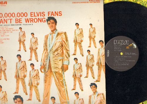 Presley, Elvis - Elvis' Gold Records Vol. 2: A Fool Such As I, A Big Hunk O'Love, One Night, Don't (Vinyl LP record, 1980s re-issue of vintage recordings) - NM9/EX8 - LP Records