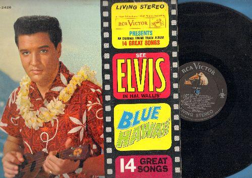 Presley, Elvis - Blue Hawaii: Rock-A-Hula Baby, Hawaiian Wedding Song, Can't Help Falling In Love (vinyl STEREO LP record) - EX8/VG7 - LP Records