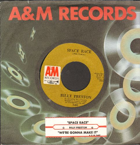 Preston, Billy - We're Gonna Make It/Space Race (with juke box label and A&M company sleeve) - NM9/ - 45 rpm Records