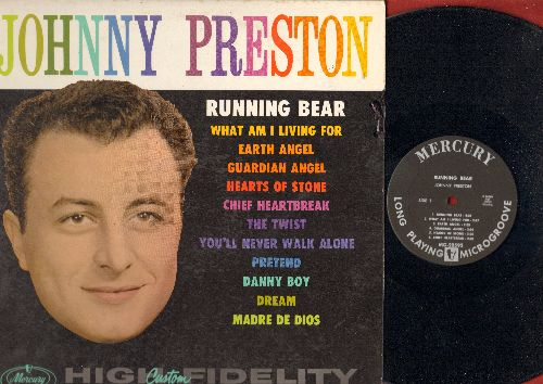 Preston, Johnny - Johnny Preston: Running Bear, What Am I Living For, Earth Angel, The Twist, Pretend, Guardian Angel (Vinyl MONO LP record, first issue in NICE condition!) - NM9/EX8 - LP Records