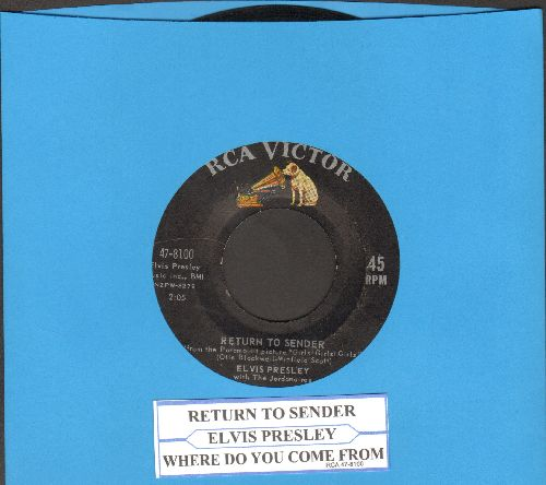 Presley, Elvis - Return To Sender/Where Do You Come From (with juke box label) - VG7/ - 45 rpm Records