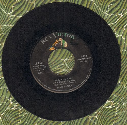 Presley, Elvis - Marie's The Name (Of His Latest Flame)/Little Sister (first pressing) - VG7/ - 45 rpm Records