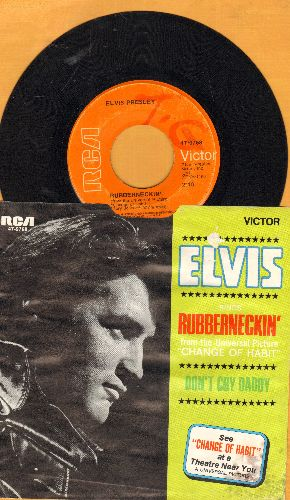 Presley, Elvis - Don't Cry Daddy/Rubberneckin' (with picture sleeve) - VG7/VG7 - 45 rpm Records