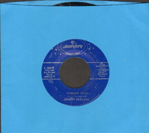 Preston, Johnny - Running Bear/Cradle Of Love (double-hit re-issue) - NM9/ - 45 rpm Records