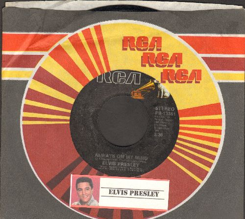 Presley, Elvis - The Elvis Medley/Always On My Mind (re-issue with company sleeve) - EX8/ - 45 rpm Records