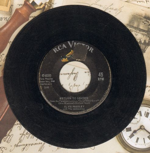 Presley, Elvis - Return To Sender/Where Do You Come From  - G5/ - 45 rpm Records