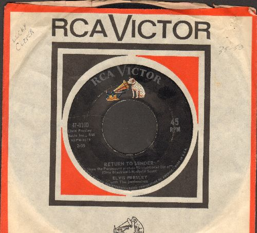 Presley, Elvis - Return To Sender/Where Do You Come From (with RCA company sleeve) - EX8/ - 45 rpm Records