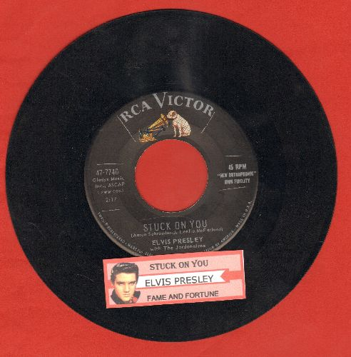 Presley, Elvis - Stuck On You/Fame And Fortuune (with juke box label) - EX8/ - 45 rpm Records
