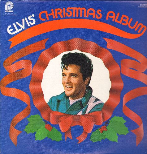 Presley, Elvis - Elvis' Christmas Album: Silent Night, Santa Claus Is Back In Town, White Christmas, I'll Be Home For Christmas, Blue Christmas (vinyl STEREO LP record, 1970s re-issue of vintage recordings) - NM9/NM9 - 45 rpm Records