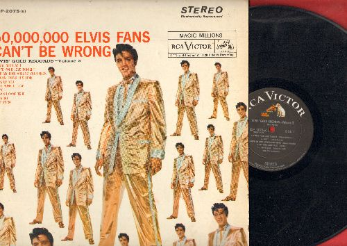 Presley, Elvis - 50,000,000 Fans Can't Be Wrong - Elvis' Gold Records  Vol. 2: A Fool Such As I, One Night, A Big Hunk O' Love, Don't (vinl MONO LP record, 1964 pressing) - EX8/VG7 - LP Records