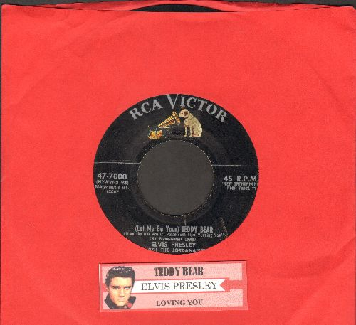 Presley, Elvis - Teddy Bear/Loving You (first issue with juke box label) - VG6/ - 45 rpm Records