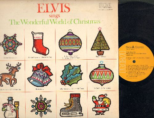 Presley, Elvis - Elvis Sings The Wonderful World Of Christmas: Winter Wonderland, The First Noel, Merry Christmas Baby, Silver Bells (vinyl STEREO LP record) - EX8/VG7 - LP Records