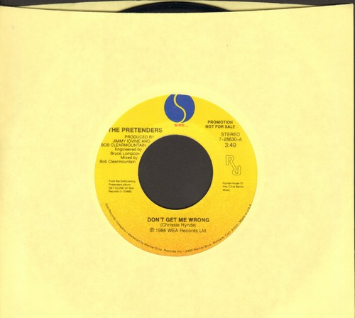 Pretenders - Don't Get Me Wrong/Dance!  - NM9/ - 45 rpm Records