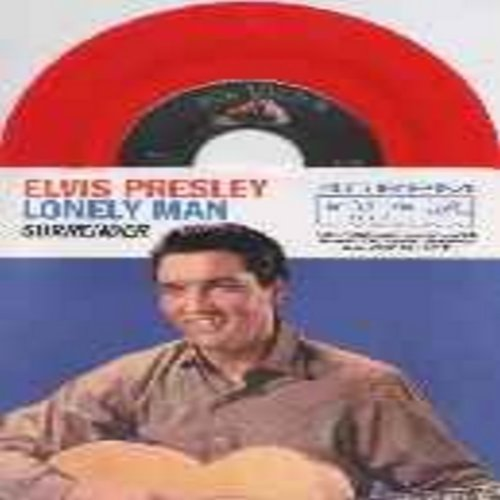 Presley, Elvis - Surrender/Lonely Man (red vinyl re-issue with picture sleeve) - NM9/NM9 - 45 rpm Records