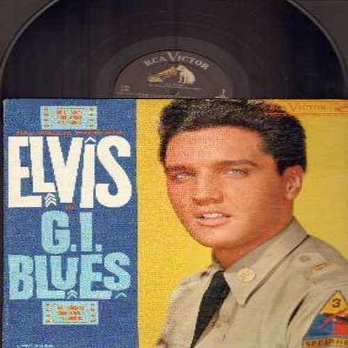 Presley, Elvis - G. I. Blues - Original Motion Picture Sound Track: Wooden Heart, Pocketful Of Rainbows, Blue Suede Shoes, Shoppin' Around, Frankfort Special (Vinyl MONO LP record, black label, dog on top, first issue) - VG6/VG6 - LP Records