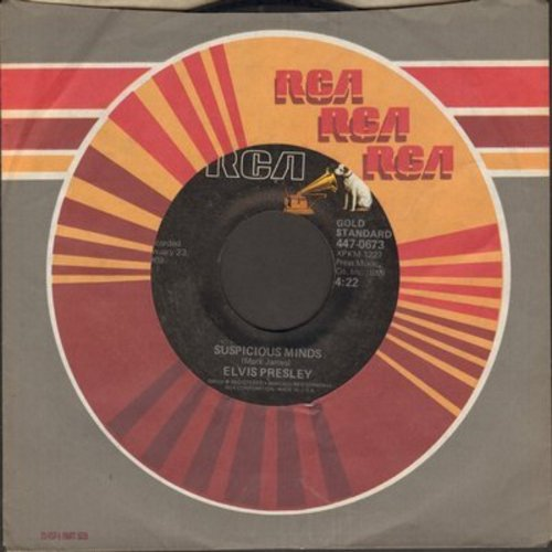 Presley, Elvis - Suspicious Minds/You'll Think Of Me (70s re-issue) - EX8/ - 45 rpm Records