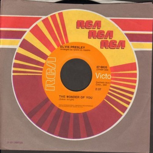 Presley, Elvis - The Wonder Of You/Mama Liked The Roses (with RCA company sleeve)  - VG7/ - 45 rpm Records