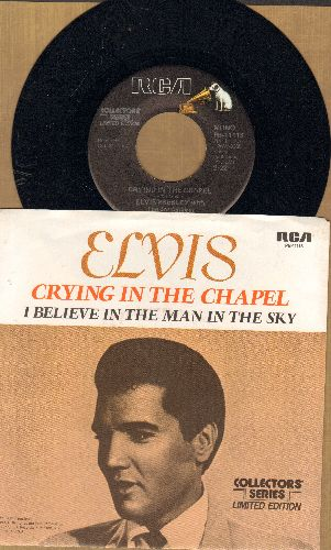 Presley, Elvis - Crying In The Chapel/I Believe In The Man In The Sky (re-issue with picture sleeve) - M10/NM9 - 45 rpm Records