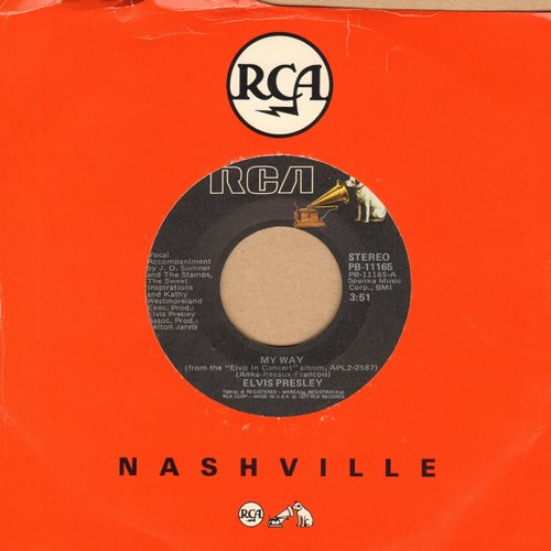 Presley, Elvis - My Way/America - VG7/ - 45 rpm Records