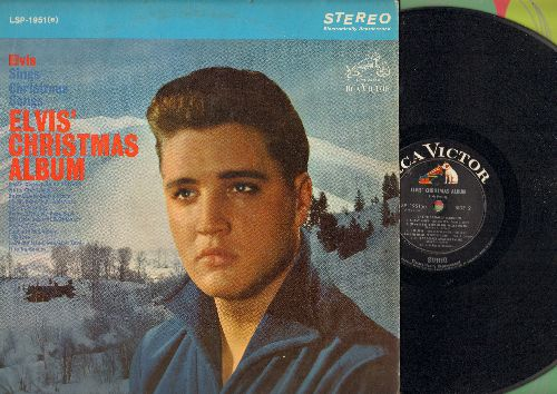 Presley, Elvis - Elvis' Christmas Album: Silent Night, Santa Claus Is Back In Town, White Christmas, I'll Be Home For Christmas, Blue Christmas (vinyl STEREO LP record) - EX8/VG6 - 45 rpm Records