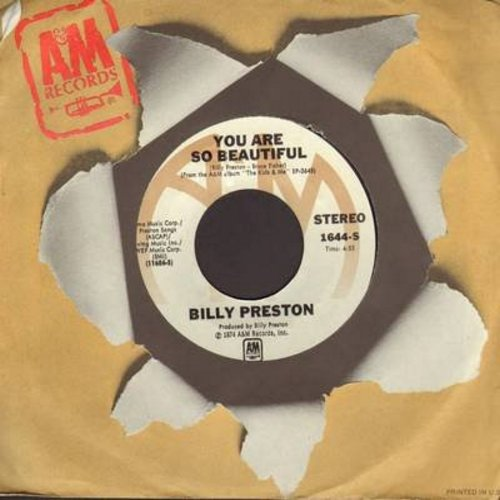 Preston, Billy - You Are So Beautiful/Struttin' (with A&M company sleeve) - EX8/ - 45 rpm Records