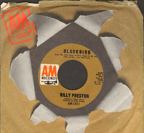 Preston, Billy - Will It Go Round In Circles/Blackbird (with A&M company sleeve) - EX8/ - 45 rpm Records